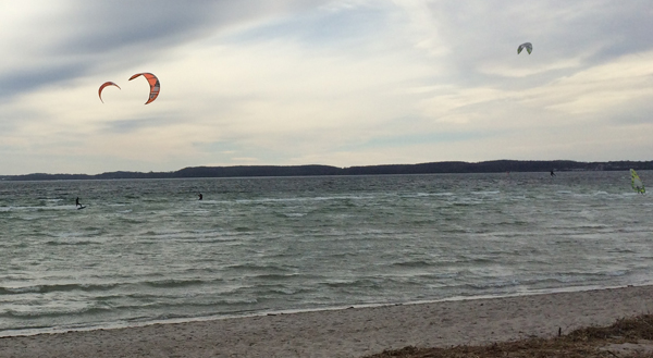 Kite Surfer am Ostermontag